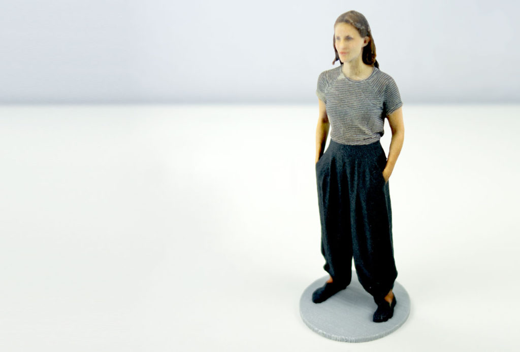 3D Scan made with Structure Sensor and itSeez3D, 3D Printed in Full Color Sandstone by Shapeways