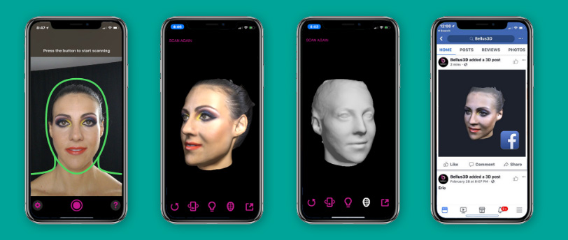 3D Scan your face with the iPhone X and Bellus3D app - 3D