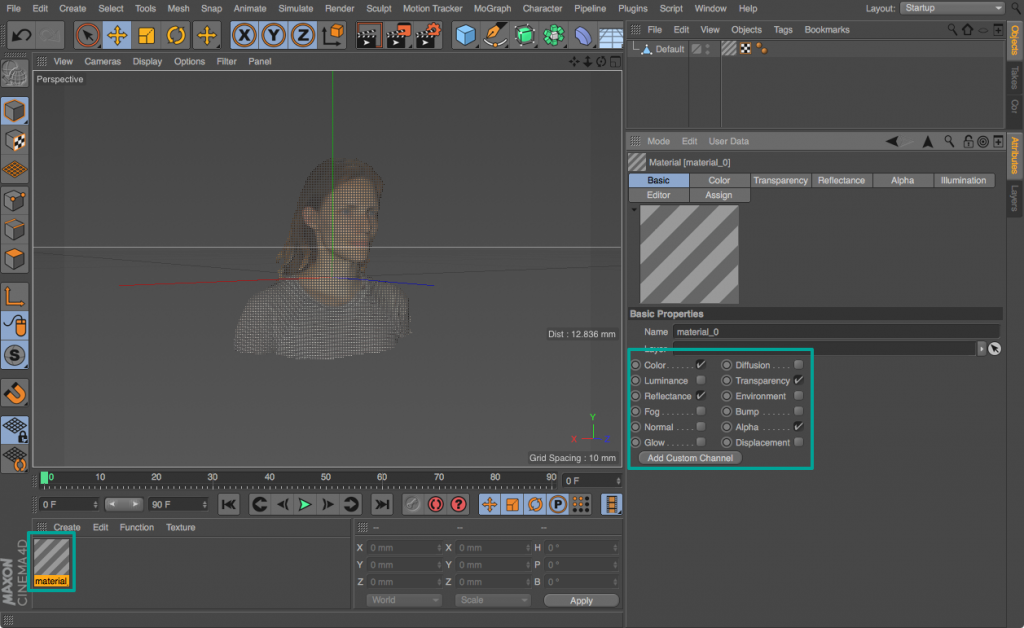 Open your 3D model (in this case an .OBJ file) with the default import settings. Sometimes it loads transparent.
