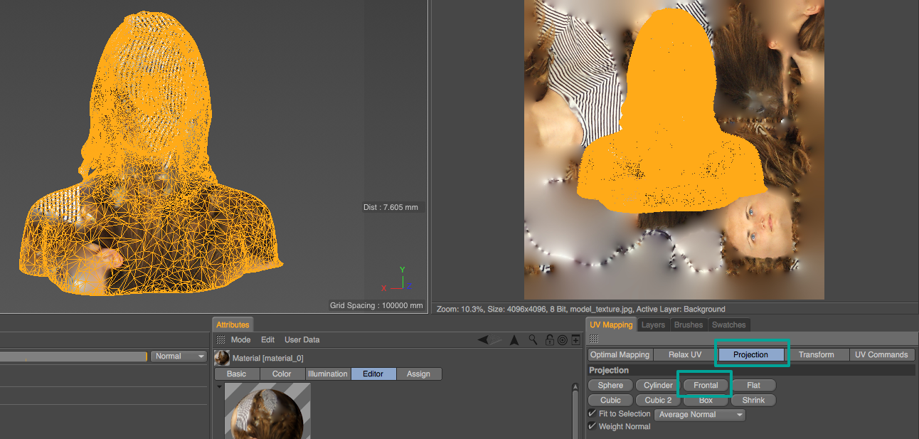How to Remap the UV Textures of a 3D Scan in BodyPaint 3D