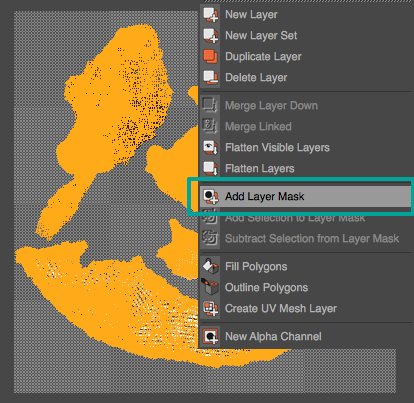 Go to Layer > Add Layer Mask to isolate the islands from the background.