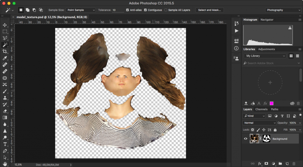 Load the PSD into Adobe Photoshop.
