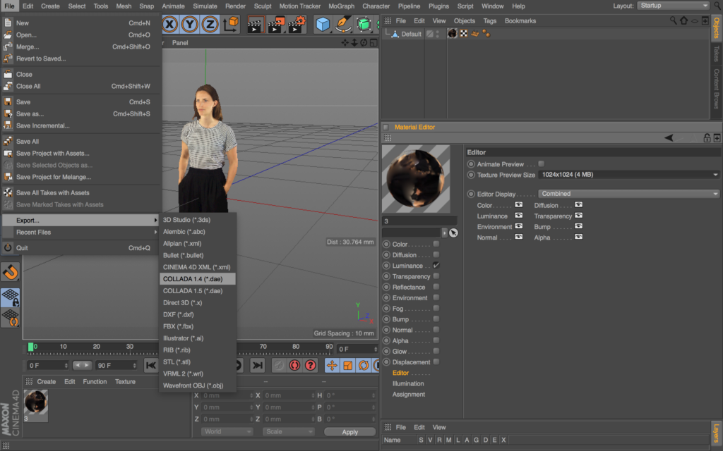 c4d-preview-quality-and-export-to-dae