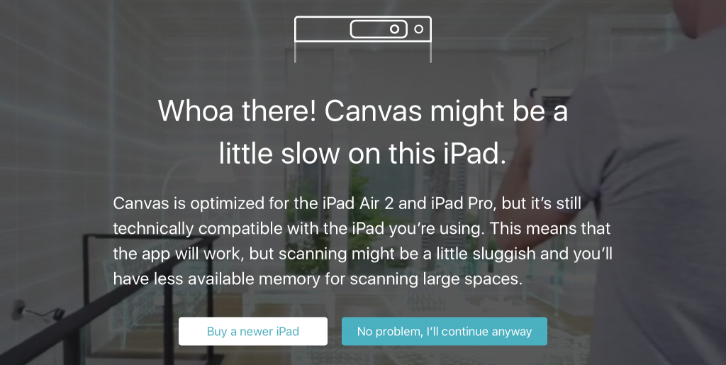 canvas-structure-sensor-cad-ipad-message