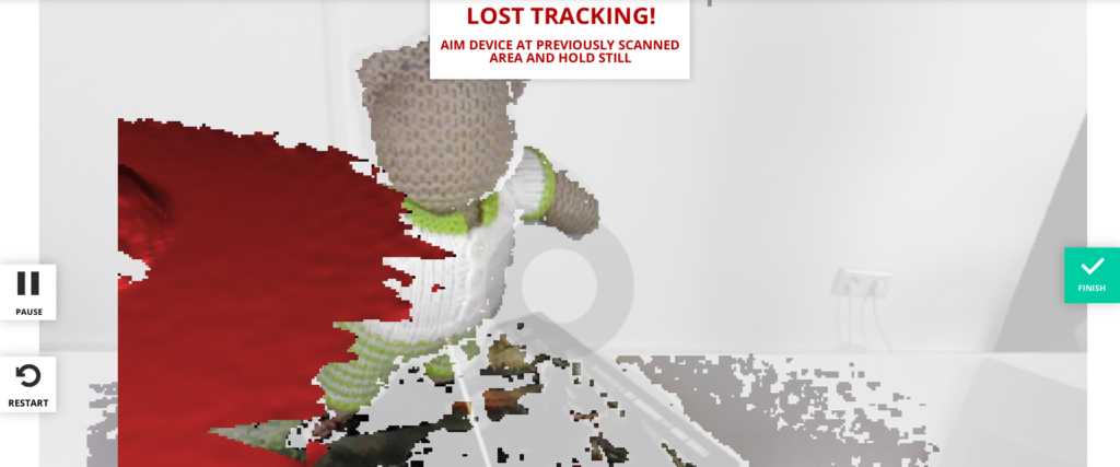 Sense for RealSense - Lost Tracking