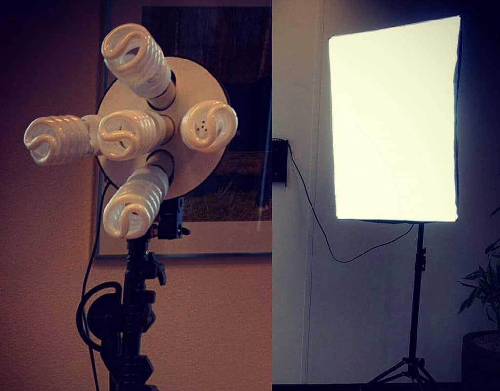 Studio Light Kit for 3D Scanning from Amazon